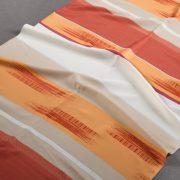Tkanina zasłonowa 070472 /007 czerwony z pomarańczowym