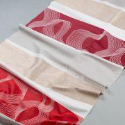 Tkanina zasłonowa 13074 /01 czerwony z beżowym
