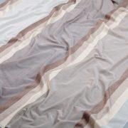 Tkanina zasłonowa 3299 /2 brązowy z beżowym