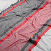 Tkanina zasłonowa 3299 /5 szary z czerwonym