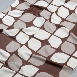 Tkanina zasłonowa 51699 /111 brązowy z kremowym