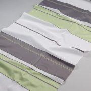 Tkanina zasłonowa DKM 16184 /8 zielony z szarym