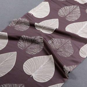 Tkanina zasłonowa N 138102 /dark brown (beżowy na brązowym ciemnym)