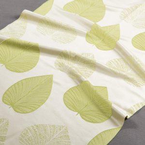 Tkanina zasłonowa N 138102 /green (zielony na beżowym)