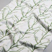 Tkanina zasłonowa WT 14040 /white-green (biały z zielonym)