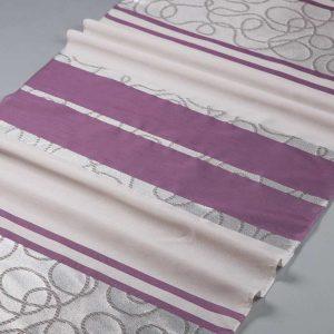 Tkanina zasłonowa 13125/05 fioletowy z szarym
