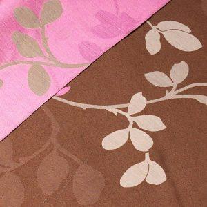 Tkanina zasłonowa 4272 /10 beżowy z różowym lub brązowym