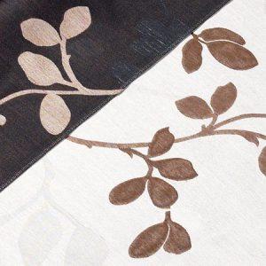 Tkanina zasłonowa 4272 /9 brązowy z czarnym lub beżowym