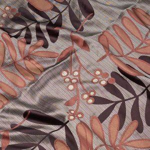 Tkanina zasłonowa 86005 /8 szary z brązowym