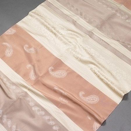 Tkanina zasłonowa AS 20228 /2 beżowy z kremowym i różowym