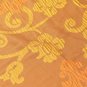 Tkanina zasłonowa AS 20972 /5 brązowy z pomarańczowym i żółtym