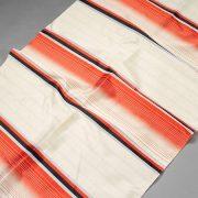 Tkanina zasłonowa 4317 /9 czerwony z kremowym