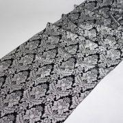 Tkanina zasłonowa Veroli HX 00286 /czarno-srebrny