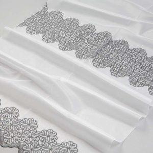 Firana 39918-2L /180 lub 280 ghisa-biały z grafitowy