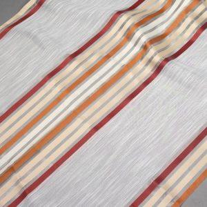 Firana ORGANZA 3954 /7 kremowy z bordowym, rudym i beżowym