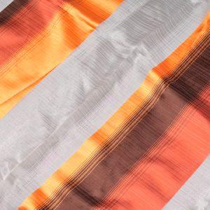 Firana ORGANZA 4302 /6 pomarańczowy i brązowy
