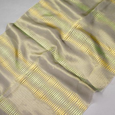 Firana ORGANZA F 2605 /10 zielony i żółty