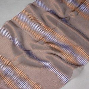 Firana ORGANZA F 2605 /8 niebieski i brązowy