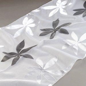 Firana ORGANZA SEMI 2306253 /2 biały z czarnym i białym