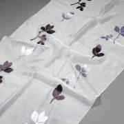 Firana ORGANZA SEMI J 3317 /10 fioletowy ciemny