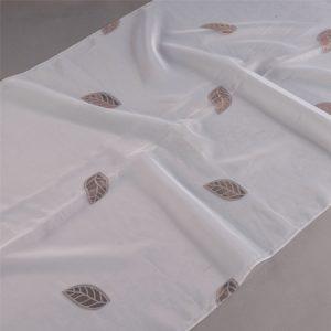 Firana ORGANZA SEMI J 912 /9 biały z brązowy