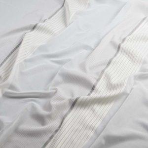 Firana WOAL 13029 /7 biały z szarym