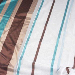 Firana WOAL DKM 6437 /13 niebieski i brązowy