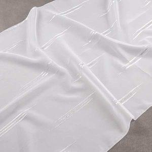 Firana WOAL DM 390 /001 biały ze srebrnym