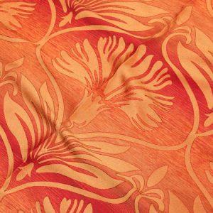 TKANINA AS 20629 /7 czerwony z pomarańczowym