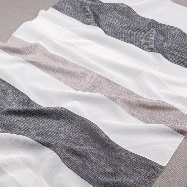 Tkanina zasłonowa 070610 /006 biały z czarnym i szarym