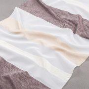 Tkanina zasłonowa 070610 007 biały z brązowym, beżowym i kremowym