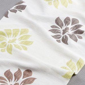 Tkanina zasłonowa 135207 /10 beżowy jasny z zielonym oraz brązowym ciemnym i jasnym