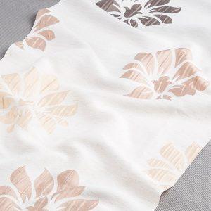 Tkanina zasłonowa 135207 /9 beżowy jasny z brązowym jasnym i ciemnym oraz beżowym ciemnym