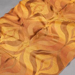 Tkanina zasłonowa AS 20639 /3 pomarańczowy z brązowym