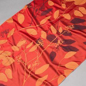 Tkanina zasłonowa AS 20964 /16 czerwony z pomarańczowym i bordowym