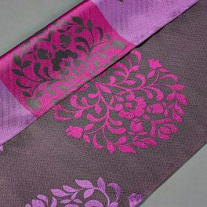 Tkanina zasłonowa AS 21657 /7 fioletowy ciemny i jasny z amarantowym