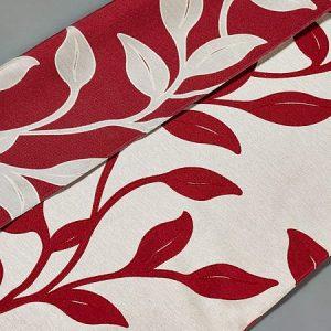 Tkanina zasłonowa AS 21772 /9 czerwony z beżowym