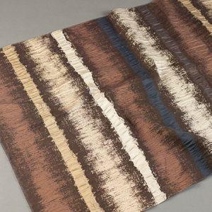 Tkanina zasłonowa AS 21945 /9 brązowy ciemny z beżowym i niebieskim i