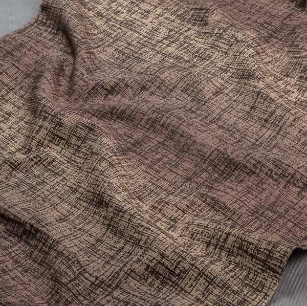 Tkanina zasłonowa AS 22257 /10 brązowy jasny i ciemny