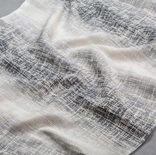 Tkanina zasłonowa AS 22257 /4 czarny, szary i kremowy