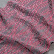 Tkanina zasłonowa AS 22450 /9 szary z różowym