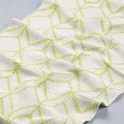Tkanina zasłonowa AS 22663 /14 kremowy z  zielonym
