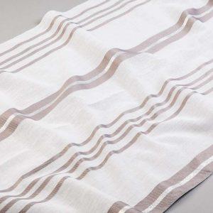 Tkanina zasłonowa BD 13029 /09 beżowy i srebrny