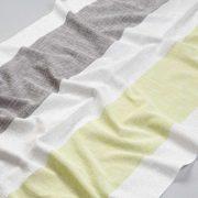Tkanina zasłonowa BD 2295 /6 kremowy z grafitowym i zielonym
