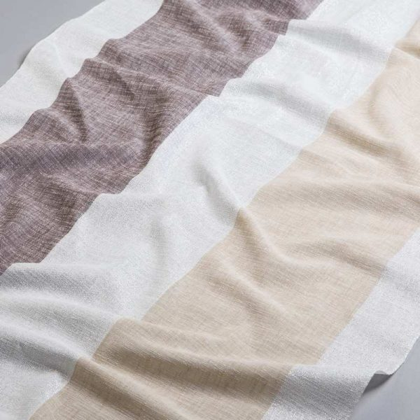 Tkanina zasłonowa BD 2295 /8 kremowy z brązowym i beżowym