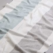 Tkanina zasłonowa BD 2295 /9 kremowy z szarym i niebieskim