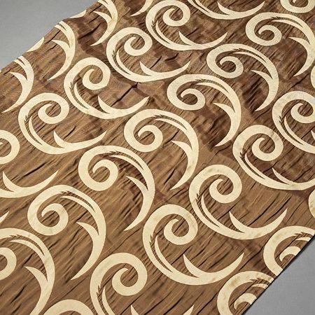 Tkanina zasłonowa CORTE 20843 /5005 brązowy z beżowym