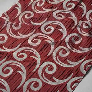 Tkanina zasłonowa CORTE 20843 /5501 bordowy z szarym
