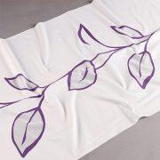 Tkanina zasłonowa DS 2757 /03 fioletowy na białym