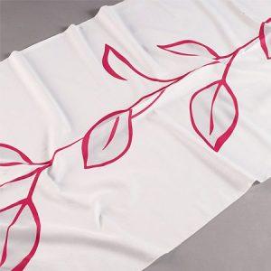 Tkanina zasłonowa DS 2757 /13 czerwony na białym